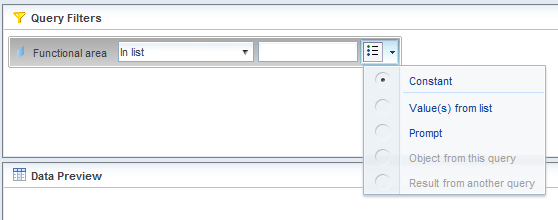 2. Chose the field that you d like to filter and drag and drop the object into the Query Filters pane. 3.