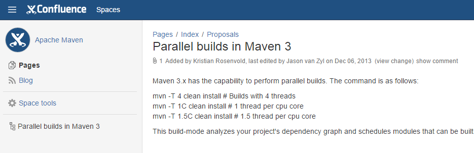 Scenarios Build system approach: Maven