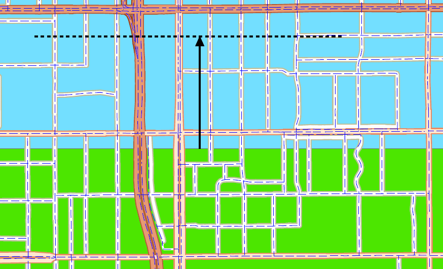 3.3 Merge Divided Roads The Merge Divided Roads tool creates a single road from a matched pair of parallel-trending, equal classification roads. This tool creates a new output dataset.