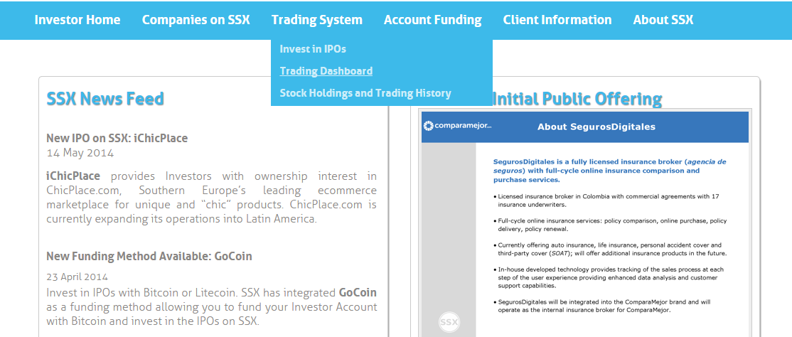 Trading Dashboard Tutorial The Trading Dashboard is the main page for all Trading information.