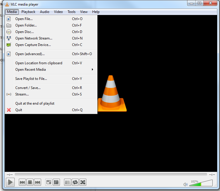 Configuring VLC Media Player for Network Streaming 1. Take some time to familiarise yourself with the User Interface of VLC.