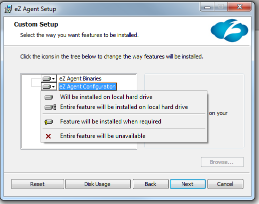 Installing ez Agent on a Computer You can install ez Agent on individual computers or on multiple computers using the Active Directory GPO feature.