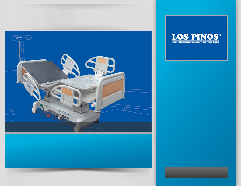 LOS PINOS Medical equipment of high quality for hospitals, health centres, medical professionals and retailers, which posses products like: Surgery beds Electronic hospital beds Manual hospital beds