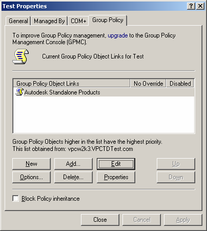 Figure 9: To Edit a group policy 5. In the left-hand pane under Computer Configuration select Software Settings.