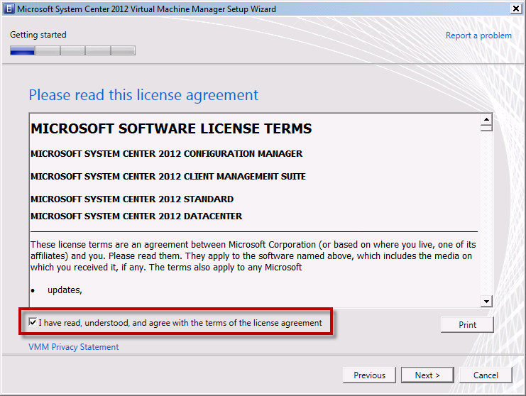Team Foundation Server 2012 Installation Guide Page 102 of 143 You should now be on the Please read this license