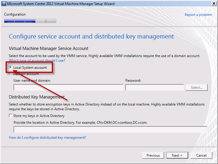 Team Foundation Server 2012 Installation Guide Page 107 of 143 You should now see the Configure service account