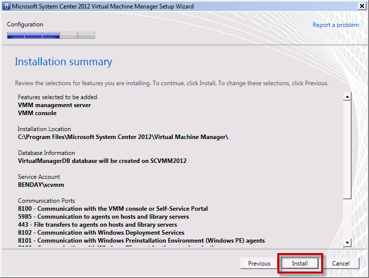 Team Foundation Server 2012 Installation Guide Page 110 of 143 The wizard should