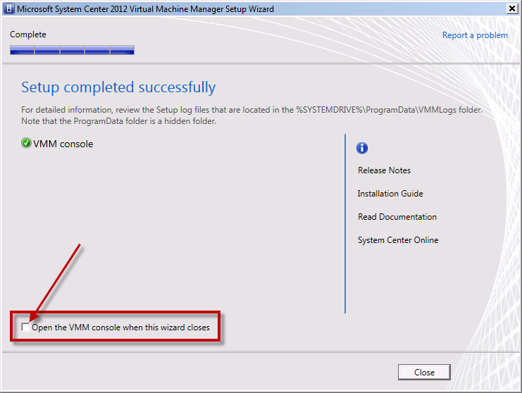 Team Foundation Server 2012 Installation Guide Page 131 of 143 You should now be on the Setup completed successfully page and
