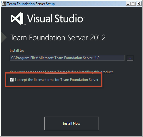 Team Foundation Server 2012 Installation Guide Page 38 of 143 You should now see the Team Foundation