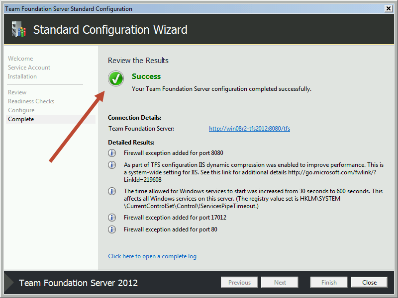 Team Foundation Server 2012 Installation Guide Page 51 of 143 You should now