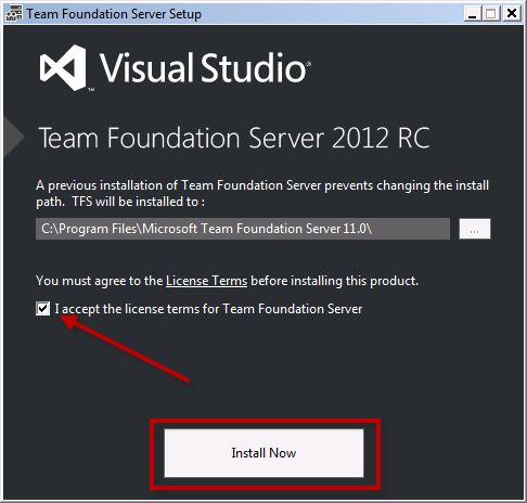 Team Foundation Server 2012 Installation Guide Page 61 of 143 You should now see the first screen of