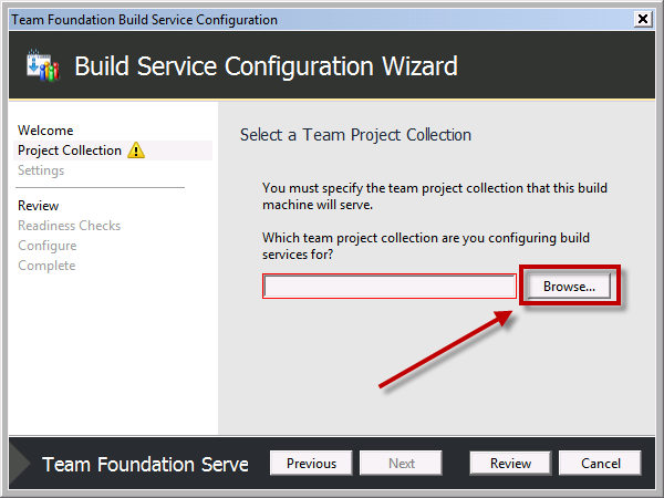 Team Foundation Server 2012 Installation Guide Page 64 of 143 You should see the Select a Team