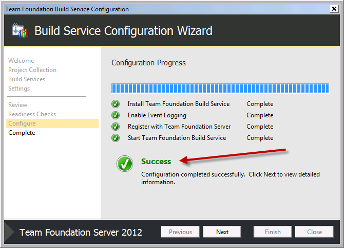 Team Foundation Server 2012 Installation Guide Page 71 of 143 You should now