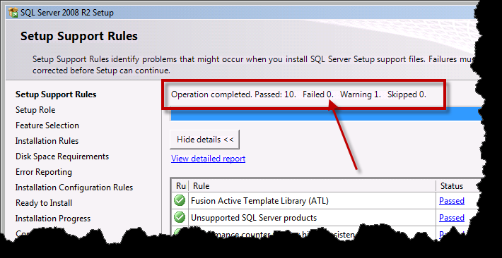 Team Foundation Server 2012 Installation Guide Page 78 of 143 The Setup Support Files dialog should now be visible.