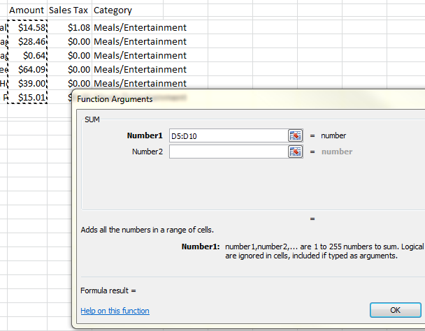 TIP: In this sample template, a Total Amount and Total Sales Tax box have been included.