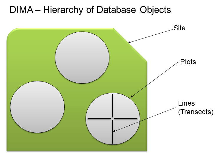 Basic DIMA Concepts The Database for Inventory, Monitoring and Assessment (DIMA) is a highly-customized Microsoft Access database for collecting data electronically in the field and for organizing,