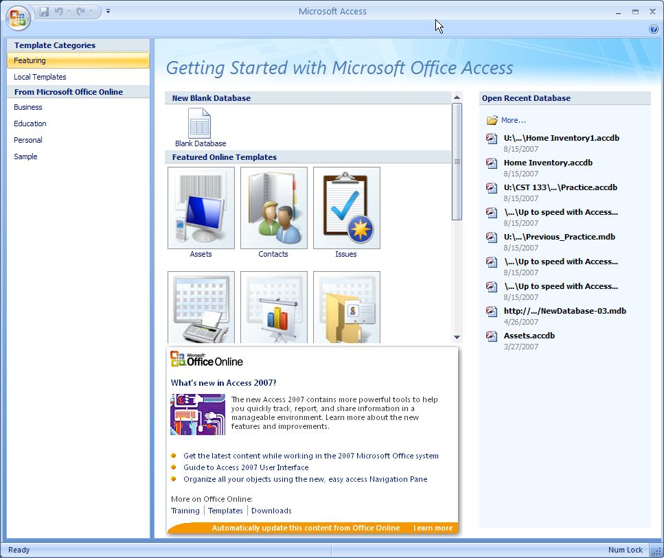 how to make ms access 2007 database executable