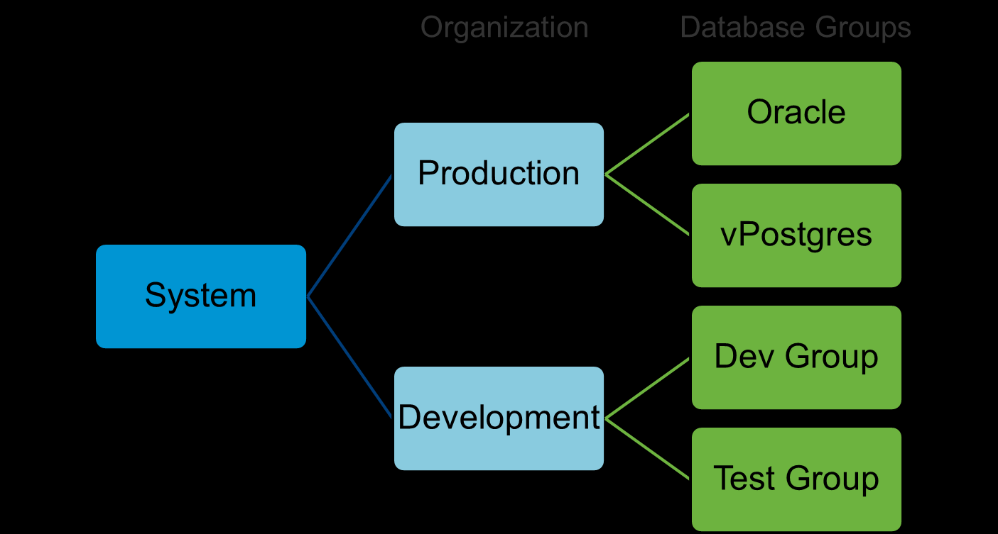and development organizations. Each organization is allocated a certain amount of resources (CPU, memory, disk and network) using resource bundles.