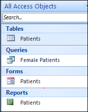 Your Access database now has a Table, Query, Form and a Report. Backing up Database, Exit and Zipped Files 1. From the File Tab choose Info.