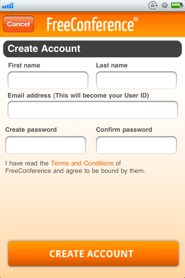 Account Login or Sign-up If you have an existing FreeConference account, log in with your User ID and password (see figure 2).