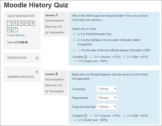 Setup Quiz Adding Quizzes to your course With the editing turned on,in the section you wish to add your chat, click