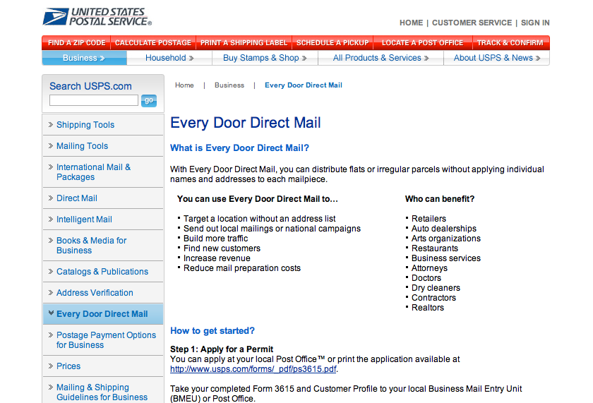 usps.com/everydoordirectmail VO: We also have information at usps.