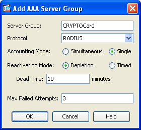 Configuration Configure Cisco ASA for Two Factor Authentication Configuring the Cisco ASA consists of 4 steps: Step 1: Define a RADIUS enabled AAA Server group.