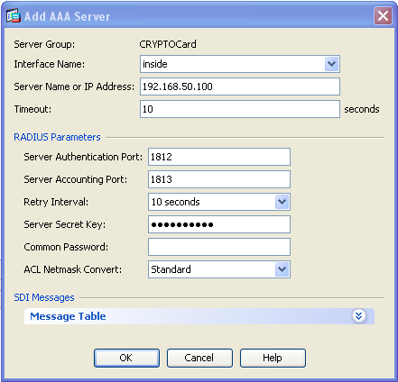 Assigning a RADIUS AAA Server to the AAA Server group 1. Under Remote Access VPN expand AAA/Local Users, AAA Server Group then on the right highlight the CRYPTOCard Group. 2.