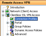 Assigning CRYPTOCard Authentication to a Clientless SSL VPN Connection Profile The Clientless SSL VPN Connection Profiles include the type of authentication method used during the negotiation of a