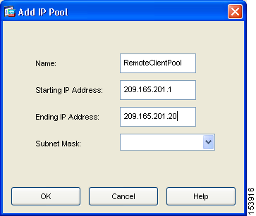 Chapter 3 Implementing the IPsec Remote-Access VPN Scenario Configuring Address Pools For remote clients to gain access to your network, you must configure a pool of IP addresses that can be assigned