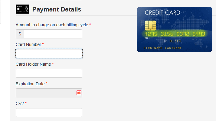 4. For Recurring payments: a. Select Recurring. b. Click the Select Frequency dropdown button and select the payment frequency. c.