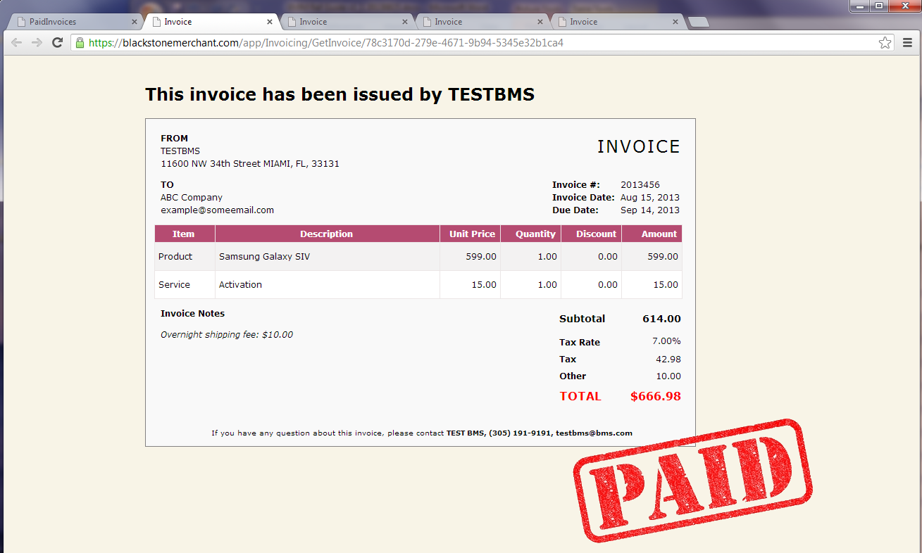 Paid Invoices 1. On the Invoicing page, select Paid Invoices. 2.