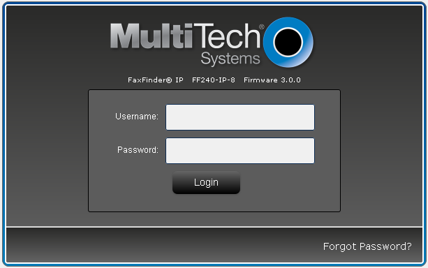 6. Configure MultiTech FaxFinder IP This section provides the procedures for configuring MultiTech FaxFinder IP.