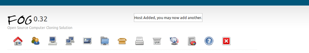 Figure 8: Host Management icon 8. Click now on the Add New Host link.