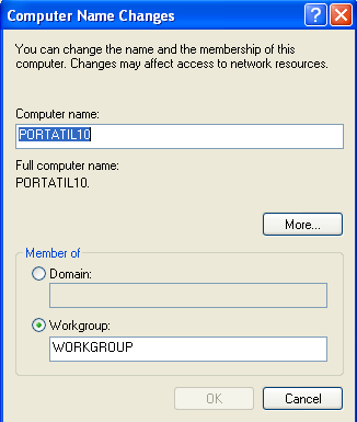 Figure 21: Computer Name At the new window change the computer name.