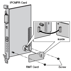 KX-TDA0196 - Remote Card (RMT) The optional RMT Card provides remote programming and