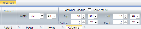 20. Select column 1 by either clicking above the Resources Panel or using the breadcrumb trail. 21.