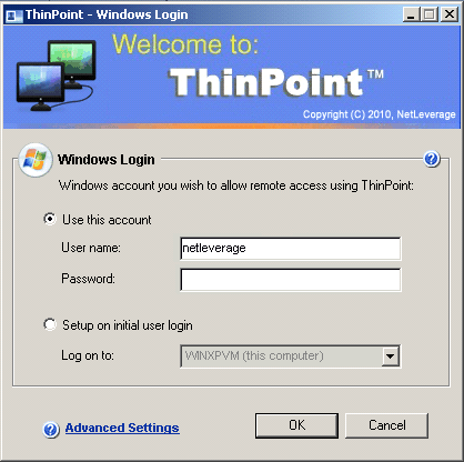 ThinPoint Client Guide 35 code for ThinPoint Linux and MAC open source clients. By default TCP port 3389 is required to connect to the ThinPoint sessions.