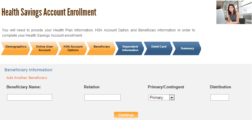 12. Select your HSA Account Option.
