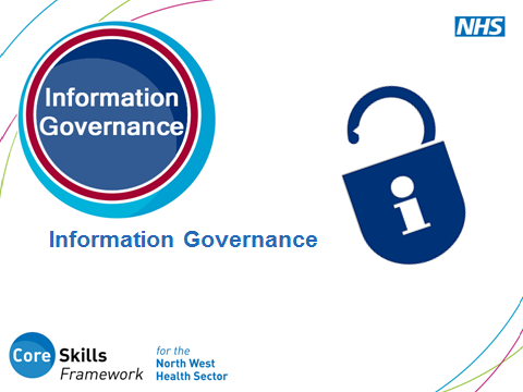 SLIDE 1: Information Governance This is an opportunity for you to introduce yourself and explain how you intend to run the session.