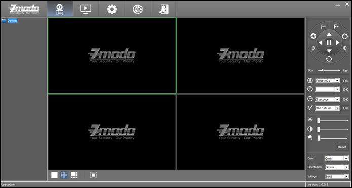 Main Interface of Zviewer 3 4 1 2 5 6 Area No.