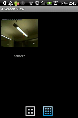 Viewing Multiple Cameras If you have more than one network camera, tap the images of up to four network cameras at the same time. icon to see the Tap a camera s image to enlarge it.