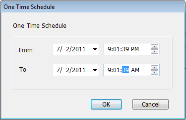 Item Channel One Time Schedules New (One Time Schedules) Description Select the channel number you wish to set.