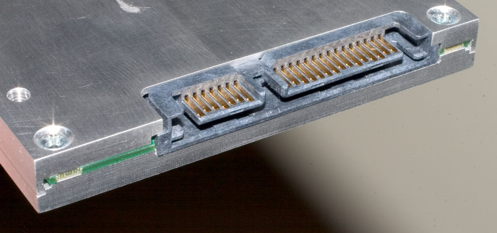 Figure Four: Side View SATA Interconnect Board with Flash Drive Cross Section