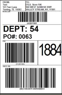 GS1-128 LABELS In today s business environment, GS1-128 (formerly known as UCC- 128) labels have become a necessary part of the criteria for large format retailers in automating the supply chain with