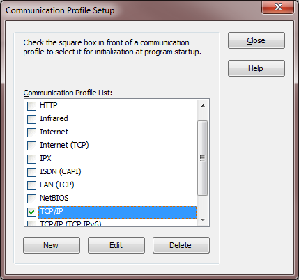 4.2 Connect using TCP/IP 1. On the Netop Guest, go to Communication profiles and check the TCP/IP communication profile. Restart the Guest.