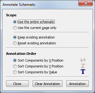 96. To add comments on the schematic use the Place graphic text (comment) on the right toolbar. 97. The components now need to be given unique identifiers.