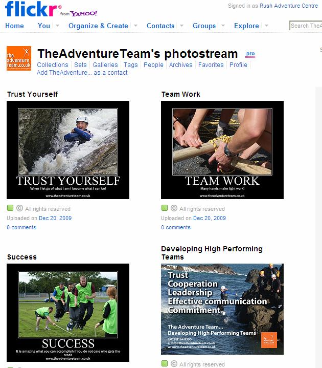 For example, if you run an adventure centre people that are interested in adventure sports love to see pictures, videos and read stories about people that run activities.