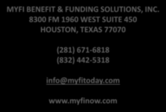 MYFI BENEFIT & FUNDING SOLUTIONS, INC.