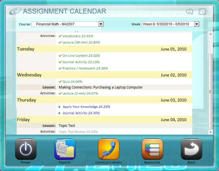 Welcome to e2020 included in this guide tips to help you succeed your assignment calendar the assignment calendar allows you to easily track and monitor your progress through fandeluxe Gallery